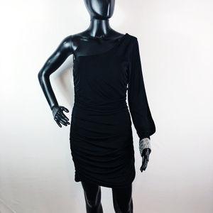 [CITY TRIANGLES] One Shoulder Gemstone Dress